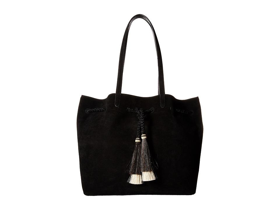 Loeffler Randall - Drawstring Tote (Black/Natural Black) Tote Handbags