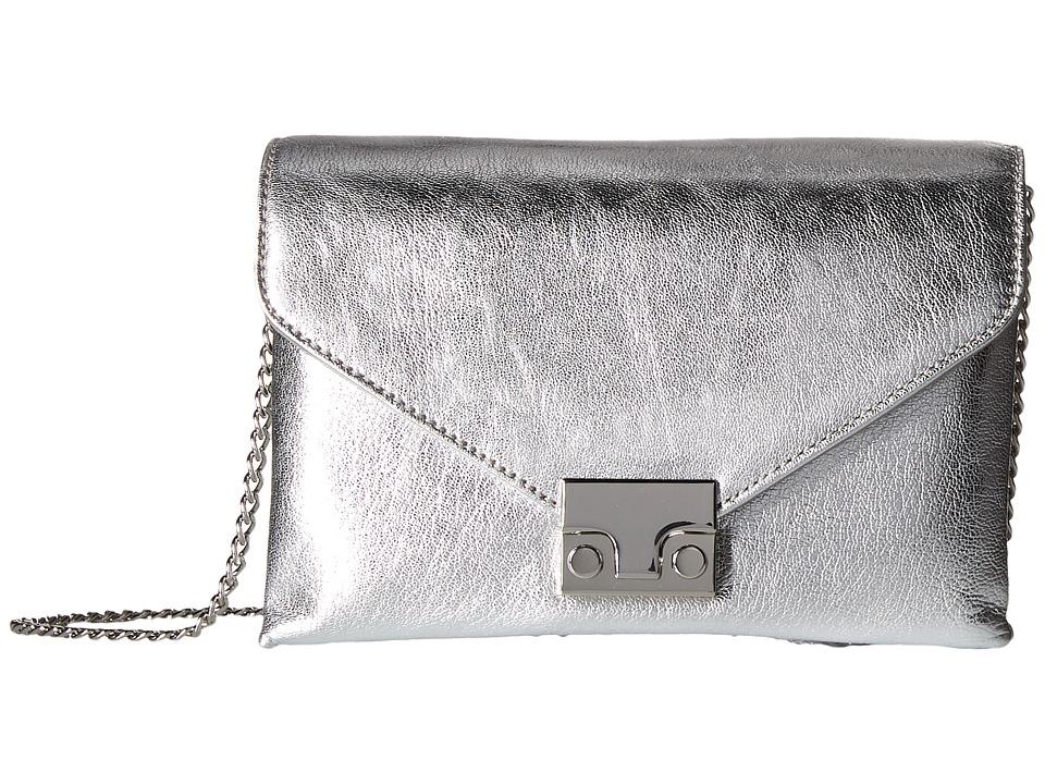 Loeffler Randall - Junior Lock Clutch (Silver) Clutch Handbags