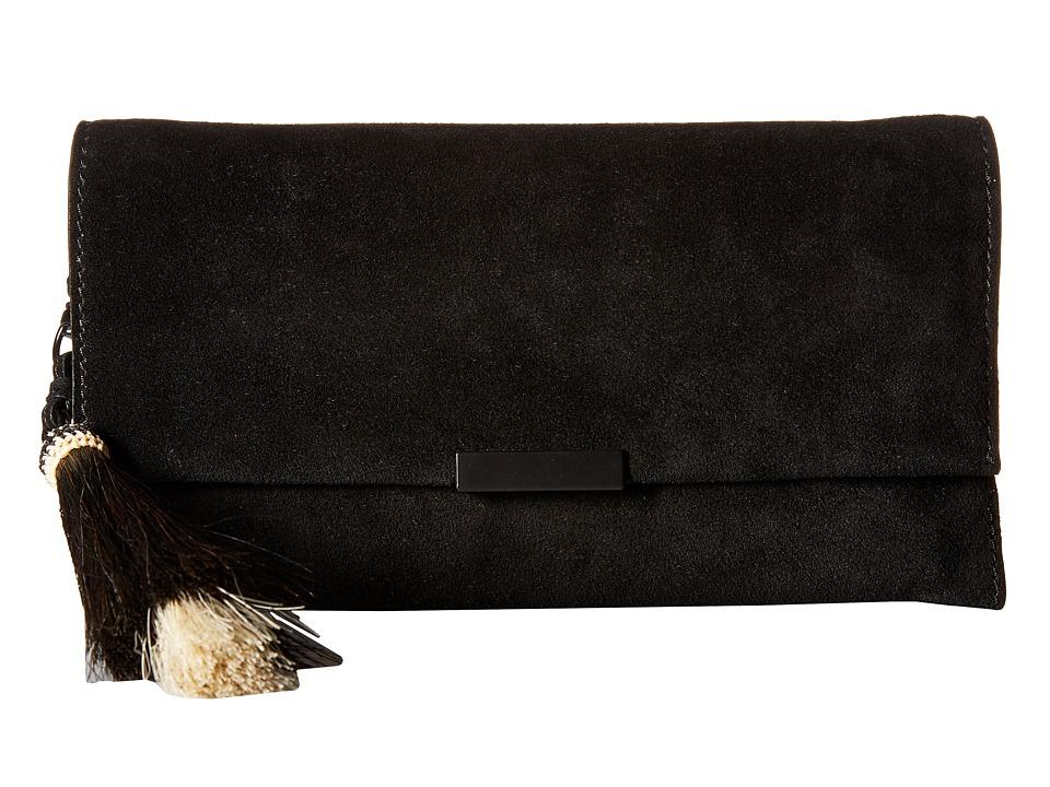 Loeffler Randall - Tab Clutch (Black/Black Natural) Clutch Handbags