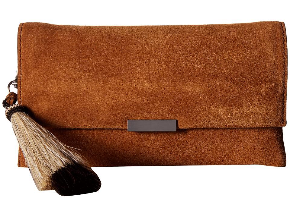 Loeffler Randall - Tab Clutch (Sienna/Natural Black) Clutch Handbags