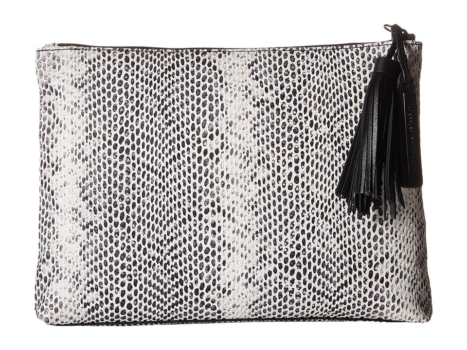 Loeffler Randall - Tassel Pouch (Black/White) Clutch Handbags