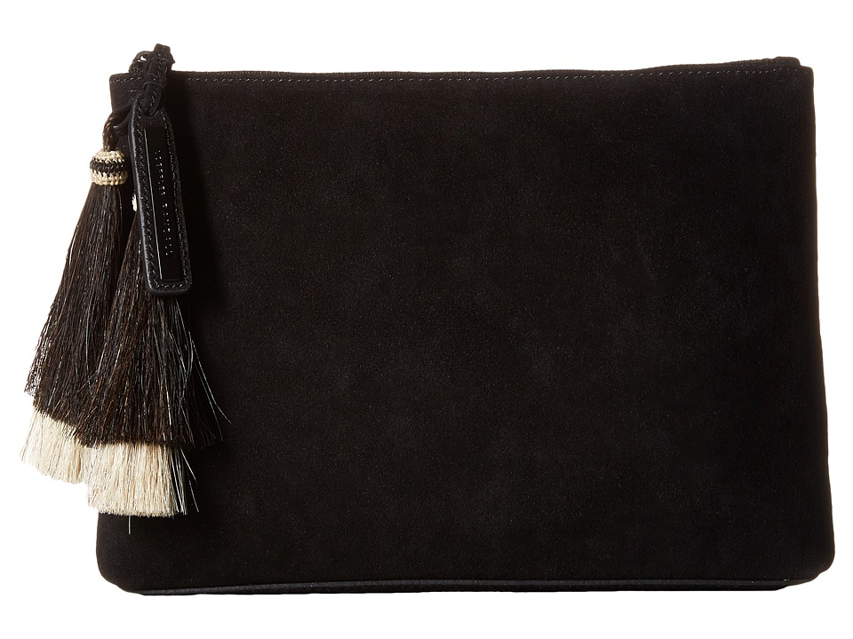 Loeffler Randall - Tassel Pouch (Black/Black Natural) Clutch Handbags