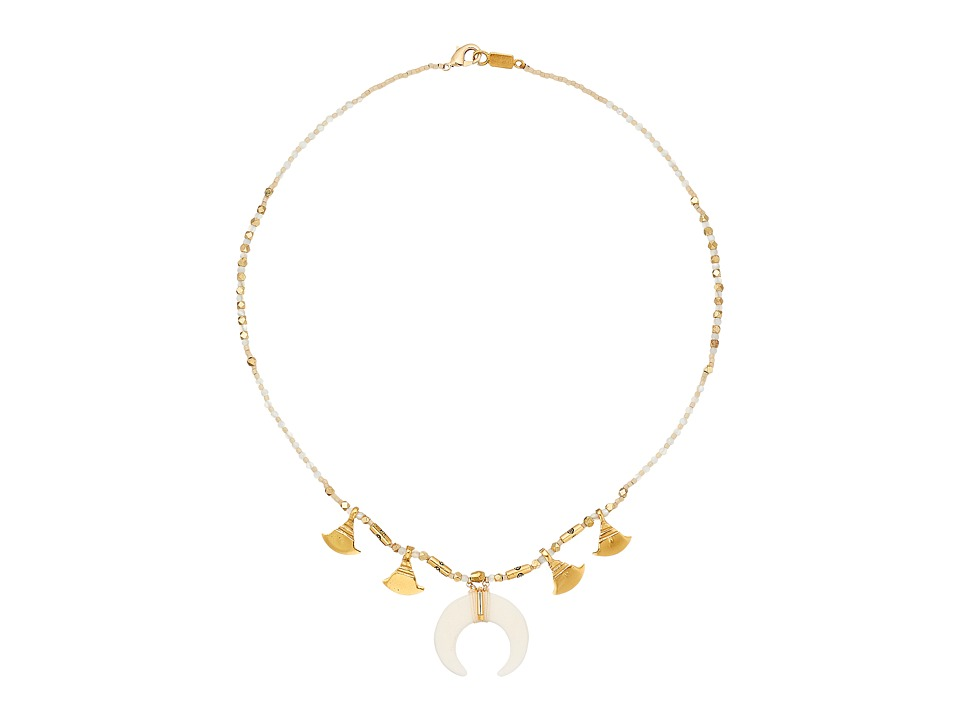 Chan Luu 17 Short Horn Necklace White Mix Necklace