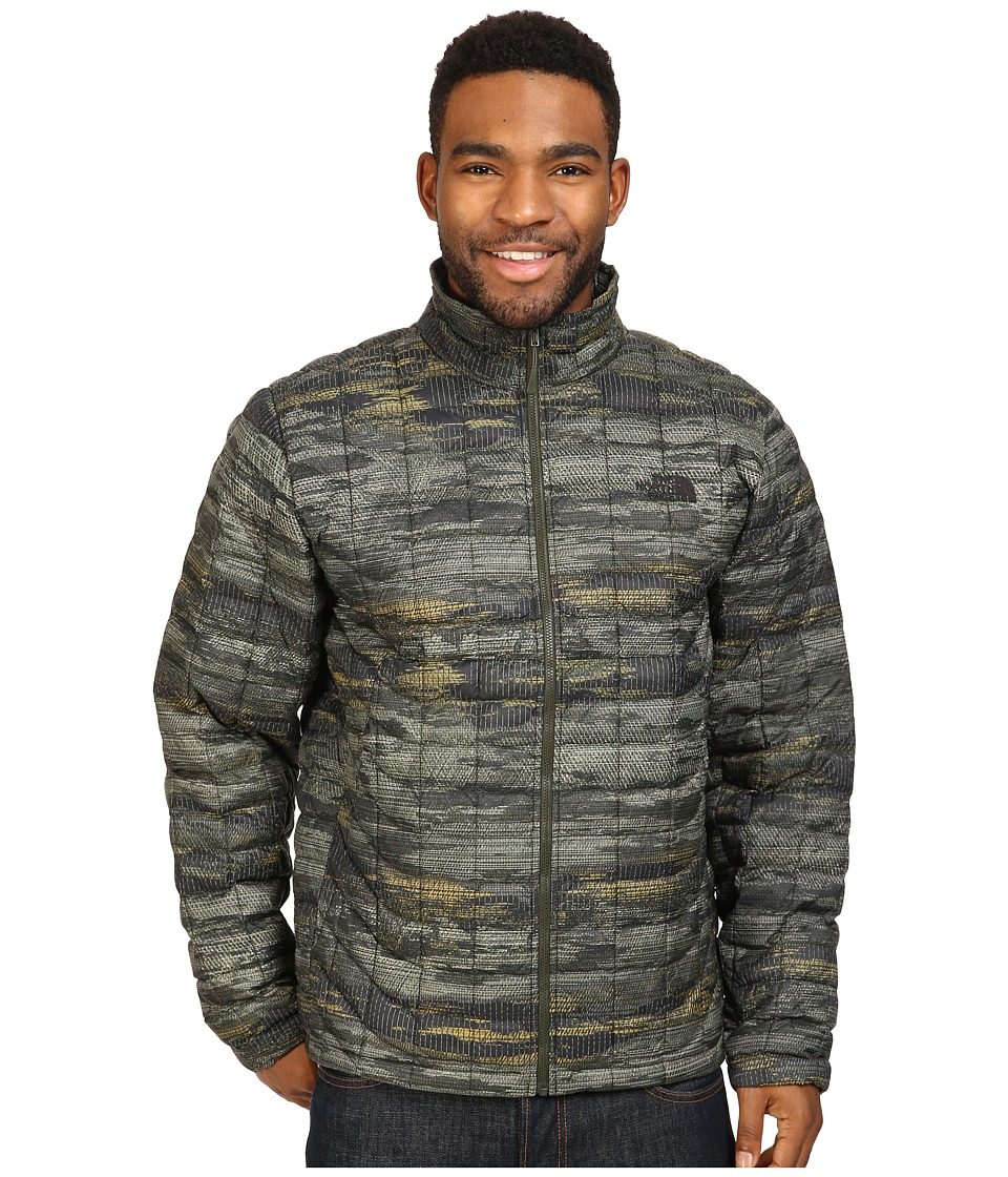 The North Face - ThermoBall Full Zip Jacket (Rosin Green Glamo Print) Men