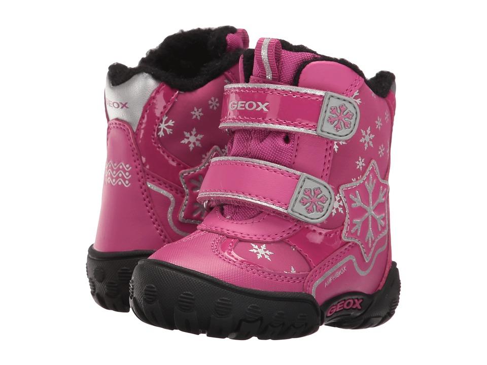 Geox Kids Baby Gulp B Girl ABX 6 Waterproof (Toddler) (Dark Fuchsia) Girl
