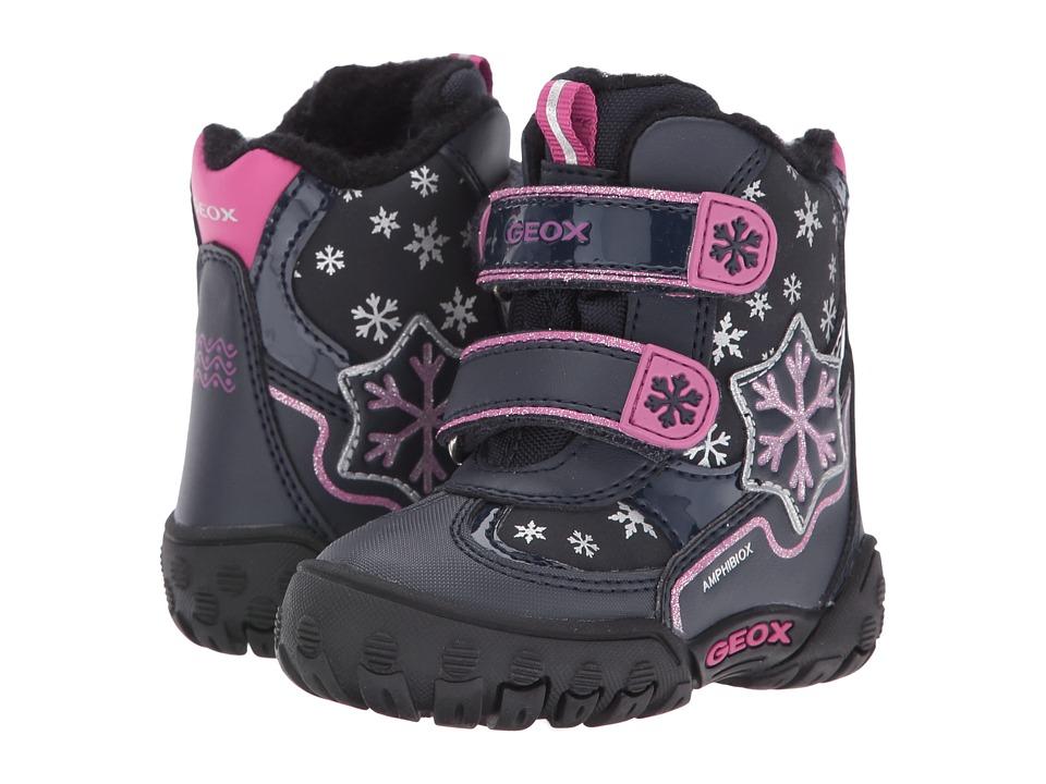 Geox Kids Baby Gulp B Girl ABX 6 Waterproof (Toddler) (Navy) Girl