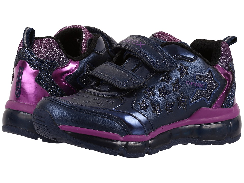 Geox Kids - Jr Android Girl 7 (Toddler\/Little Kid) (Dark Navy) Girl's Shoes