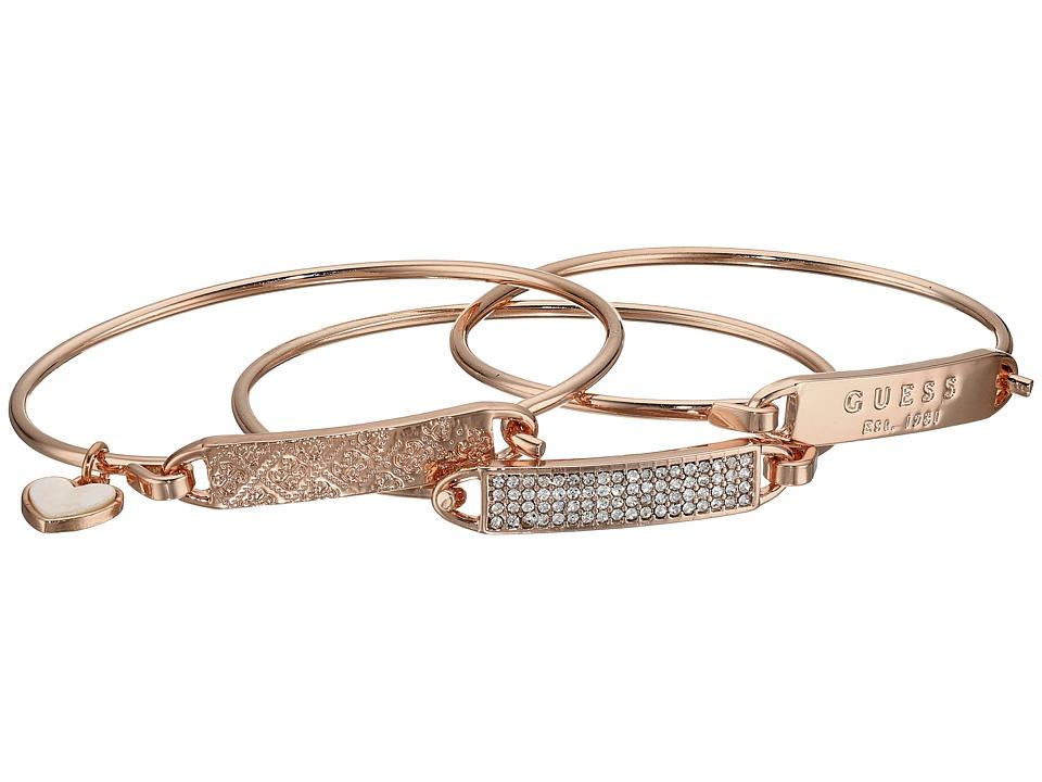 GUESS - Dainty ID Bracelet Trio (Gold/Crystal) Bracelet