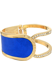 GUESS - Hinged Cuff with Fauz Leather Bracelet