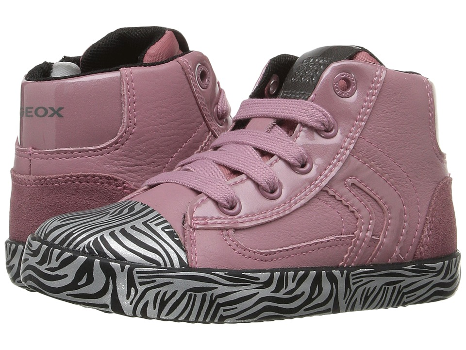 Geox Kids Baby Kiwi Girl 76 (Toddler) (Pink/Black) Girl