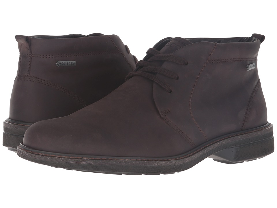 ECCO Turn Gore-Tex Chukka Tie (Mocha) Men