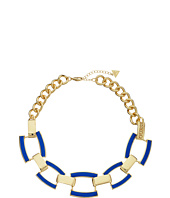 GUESS - Faux Leather Links Collar Necklace