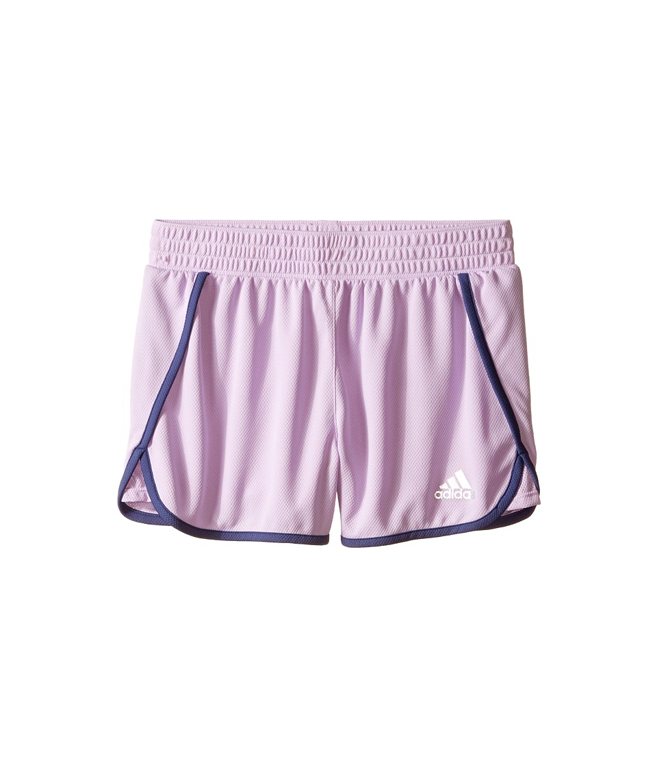 adidas Kids 3 Knit Shorts Big Kids Purple Glow/Raw Purple Girls Shorts