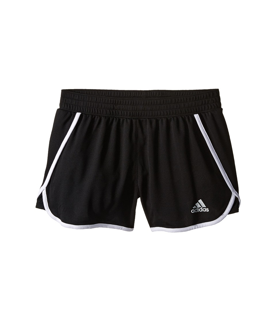 adidas Kids 3 Knit Shorts Big Kids Black/White Girls Shorts