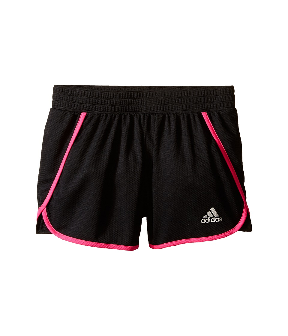 adidas Kids 3 Knit Shorts Big Kids Black/Shock Pink Girls Shorts
