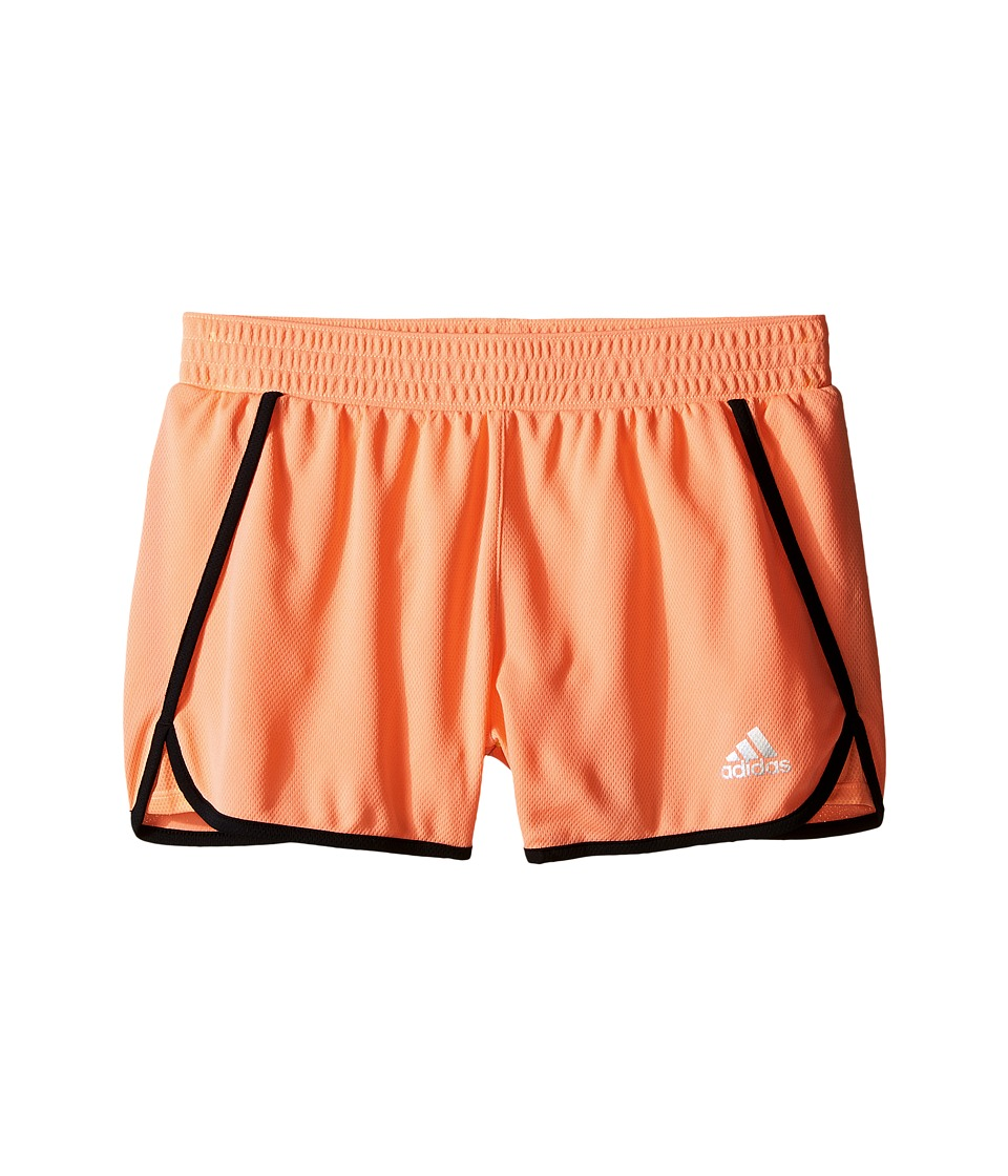 adidas Kids 3 Knit Shorts Big Kids Sun Glow/Black Girls Shorts
