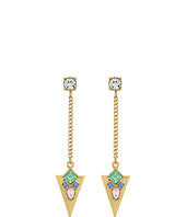 GUESS - Stone Stud and Linear Arrowhead Front To Back Earrings