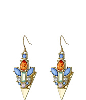 GUESS - Stone Encrusted Arrowhead Drop Earrings