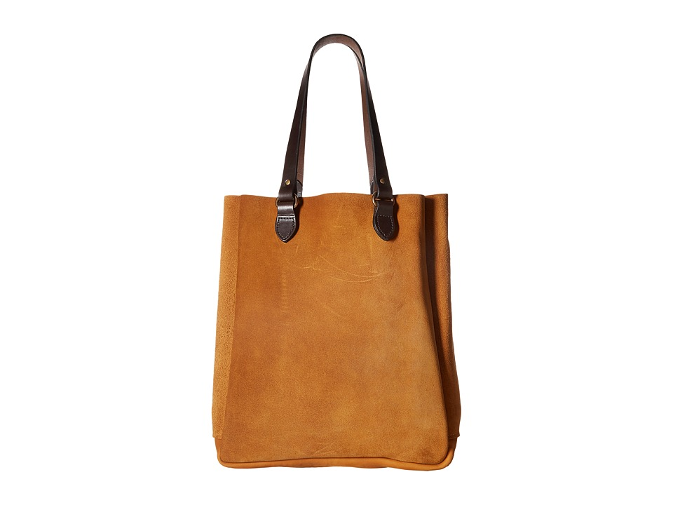 Filson - Rugged Suede Tote (Saddle Brown) Tote Handbags