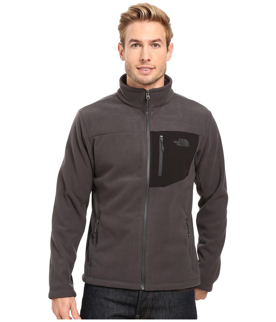The North Face Chimborazo Full Zip Fleece (Asphalt Grey/TNF Black) Men