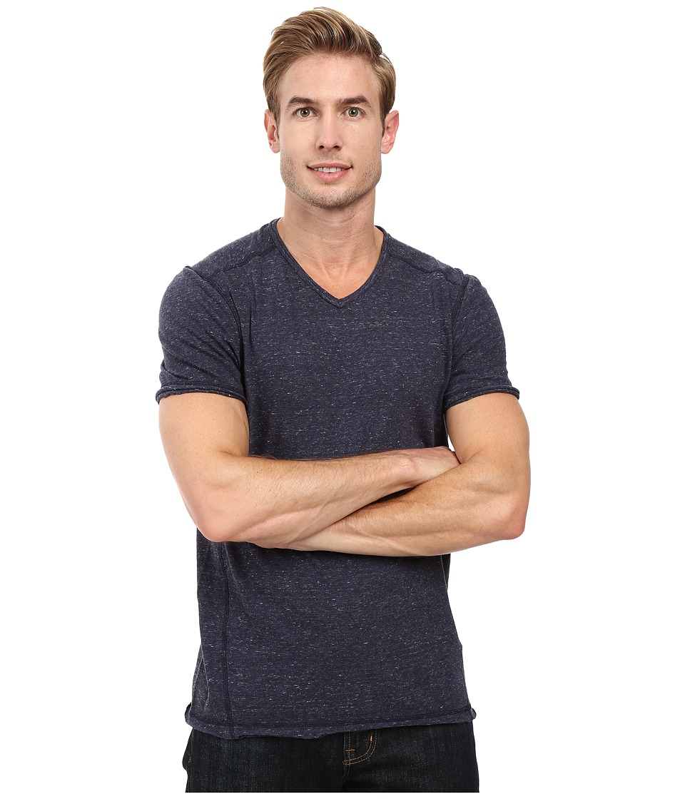 Calvin Klein Jeans - Basic Modern Slub Short Sleeve V-Neck (Navy Armada) Men