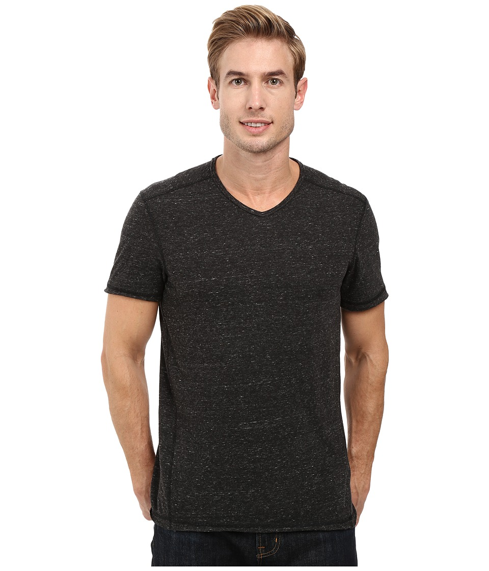 Calvin Klein Jeans - Basic Modern Slub Short Sleeve V-Neck (Black) Men