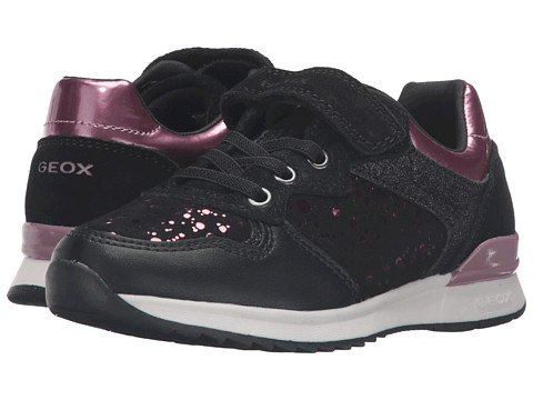 Geox Kids Jr Maisie Girl 6 (Toddler/Little Kid) - Black