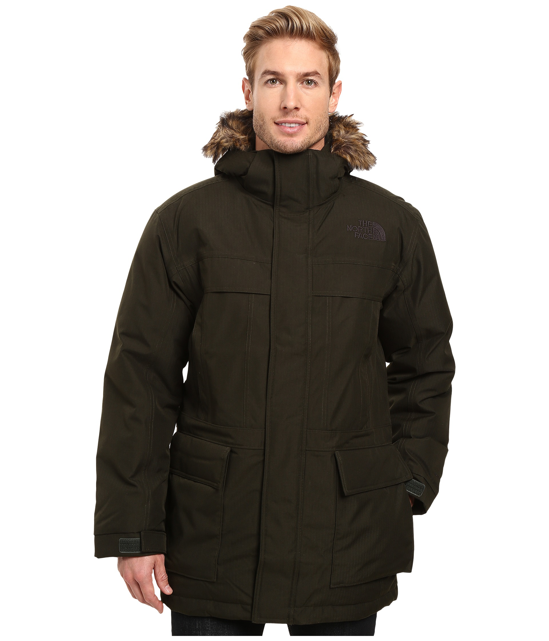 the north face mcmurdo parka ii rosin green heather free shipping both ways. Black Bedroom Furniture Sets. Home Design Ideas