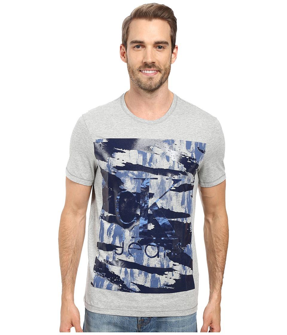 Calvin Klein Jeans - Camo Crew Neck Tee (Medium Charcoal Heather) Men