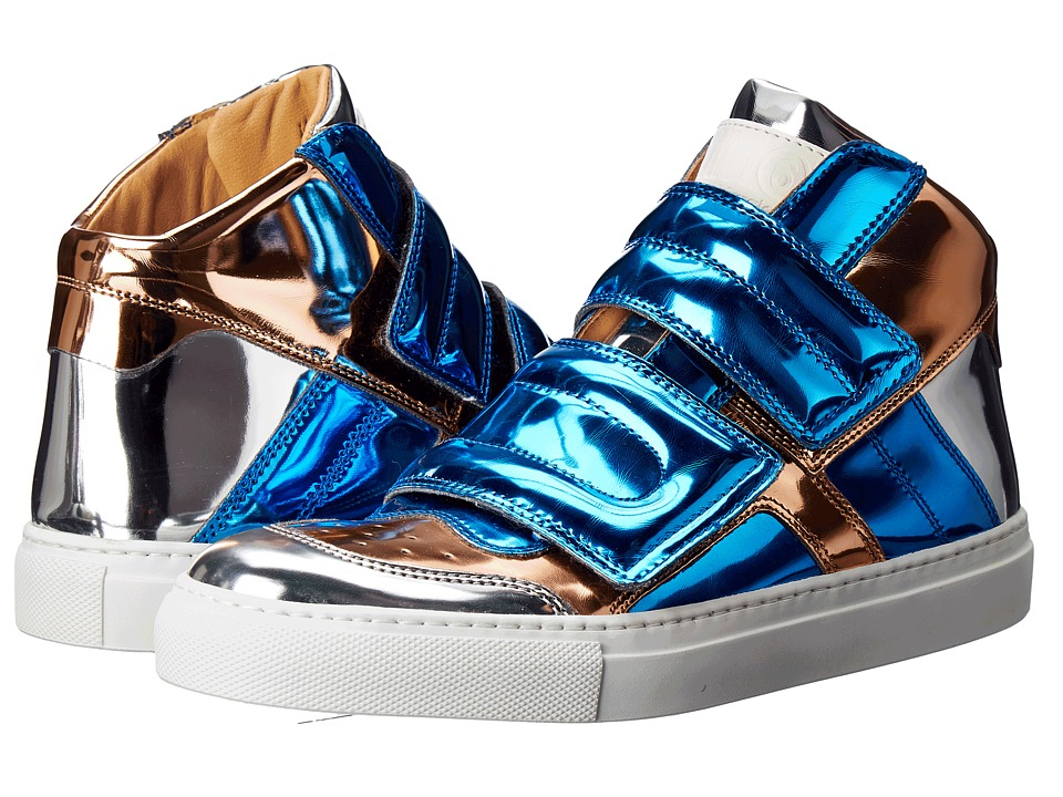 MM6 Maison Margiela Mirrored High Top Blue/Copper/Silver Mirror Womens Shoes