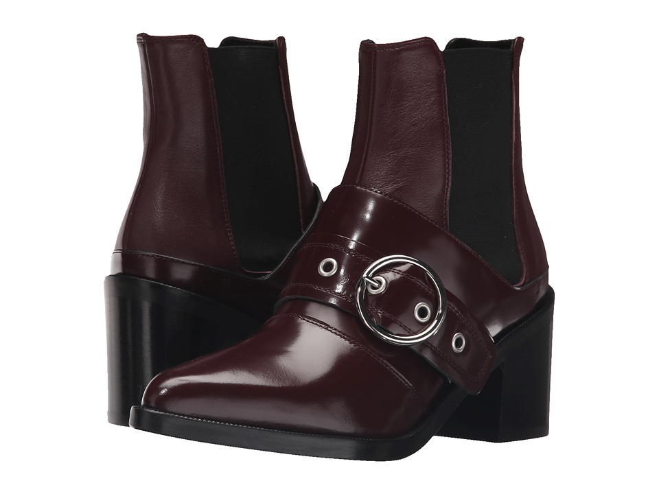 MM6 Maison Margiela Harness Chelsea Boot Bordeaux/Bordeaux Leather Womens Boots