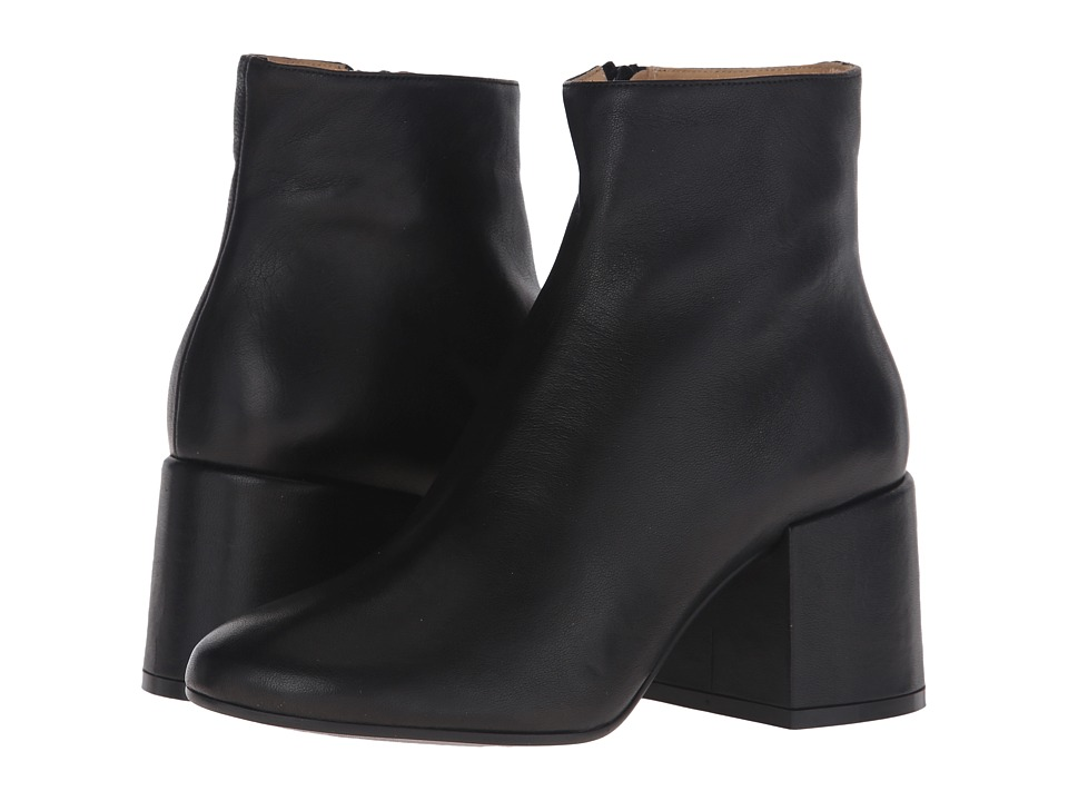 MM6 Maison Margiela Deconstructed Heel Bootie Black Leather Womens Boots
