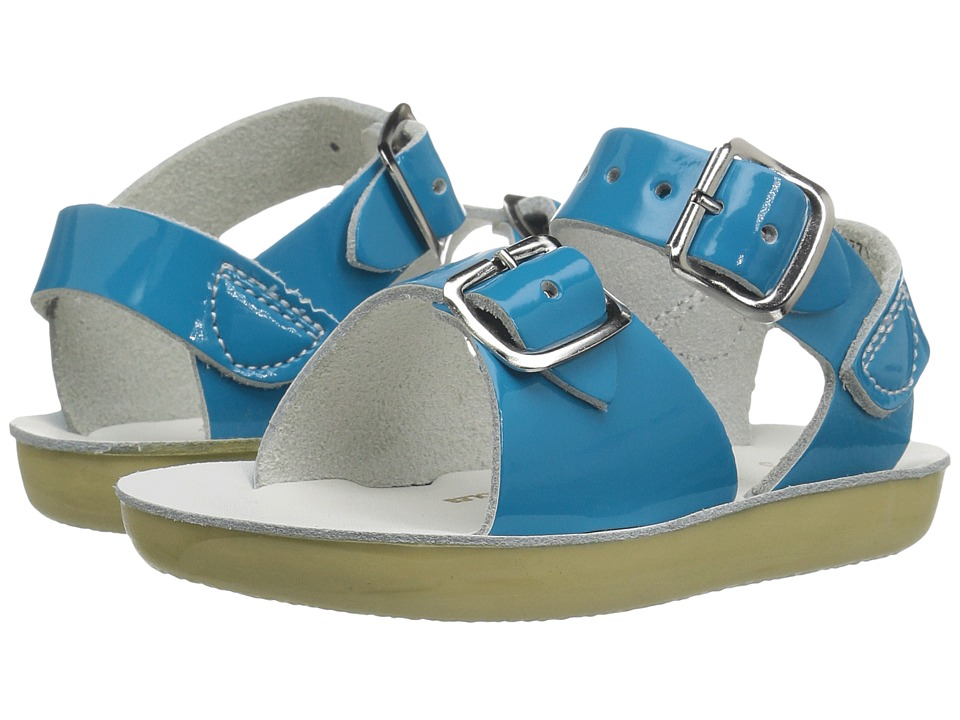 Salt Water Sandals Sun-San Surfer (Toddler/Little Kid) (Turquoise) Girls Shoes