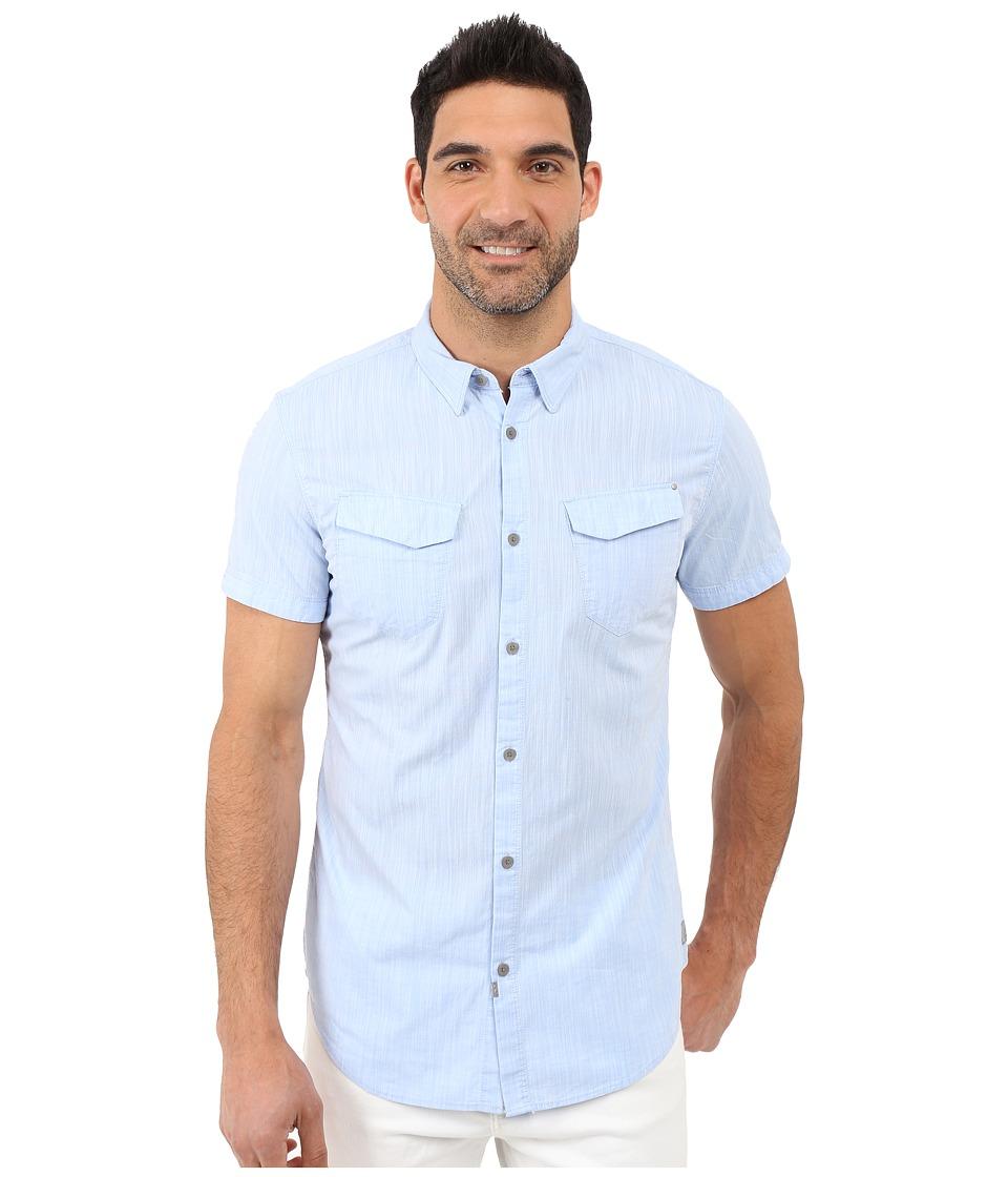Calvin Klein Jeans Short Sleeve Chambray Shirt Skyway Mens Short Sleeve Button Up