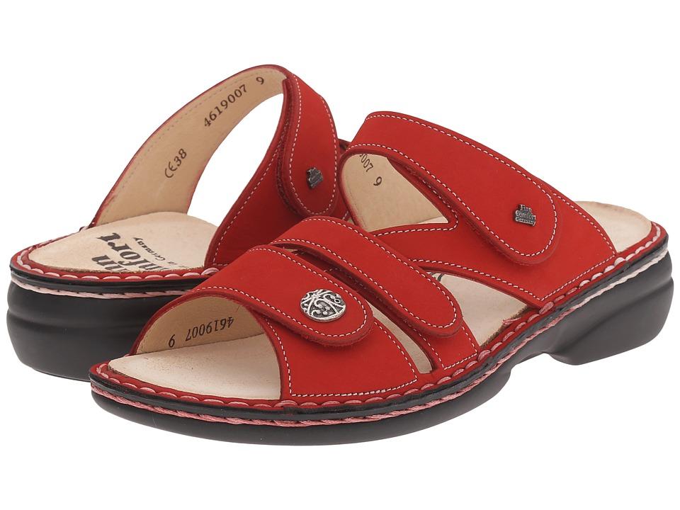 Finn Comfort Soft Ventura 82568 Red Womens Slide Shoes