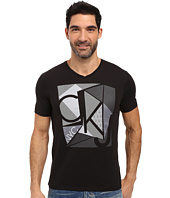 Calvin Klein Jeans - Mixed Techniques Logo V-Neck Tee