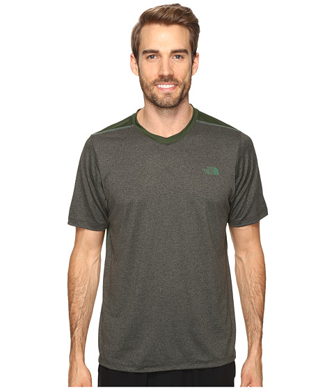The North Face Reactor Short Sleeve V-Neck - Climbing Ivy Green Heather