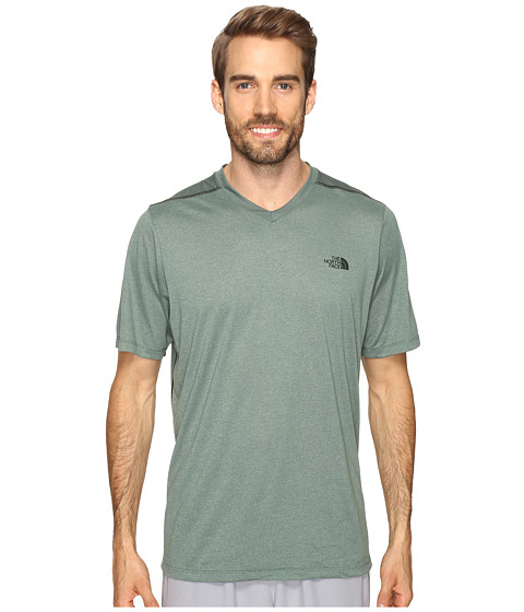 The North Face Reactor Short Sleeve V-Neck - Duck Green Heather