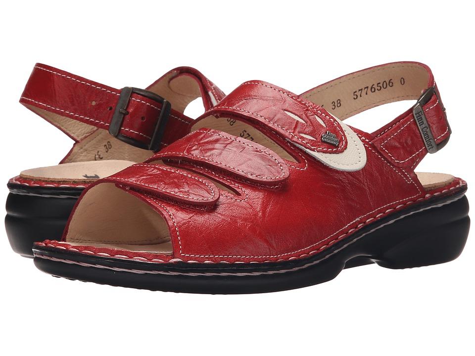 Finn Comfort Saloniki 82557 Red/Jasmin 1 Womens Sandals