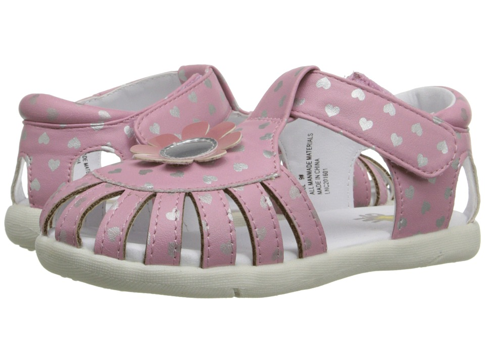 W6YZ Gail Toddler Pink/Silver Girls Shoes