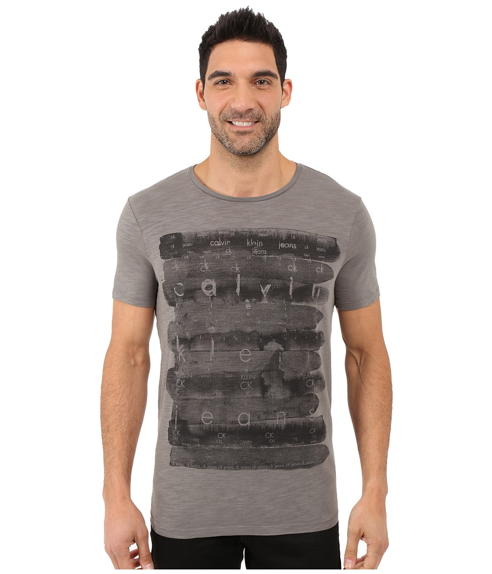 Calvin Klein Jeans - Watercolor Tee (Platinum) Men