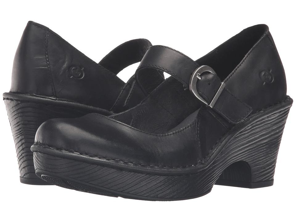 Born - Lezlie (Black Full Grain Leather) Women