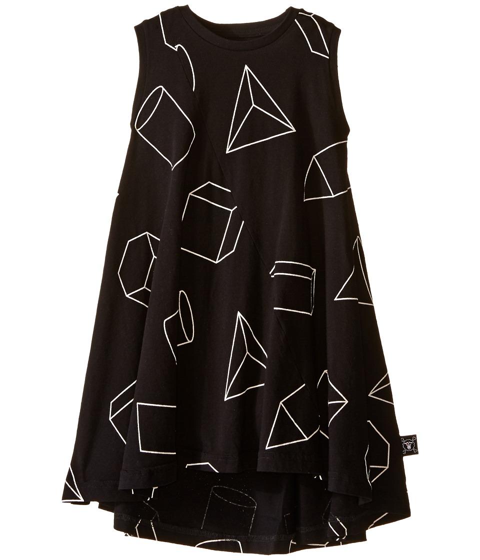 Nununu Geometric 360 Tank Dress Infant/Toddler/Little Kids Black Girls Dress