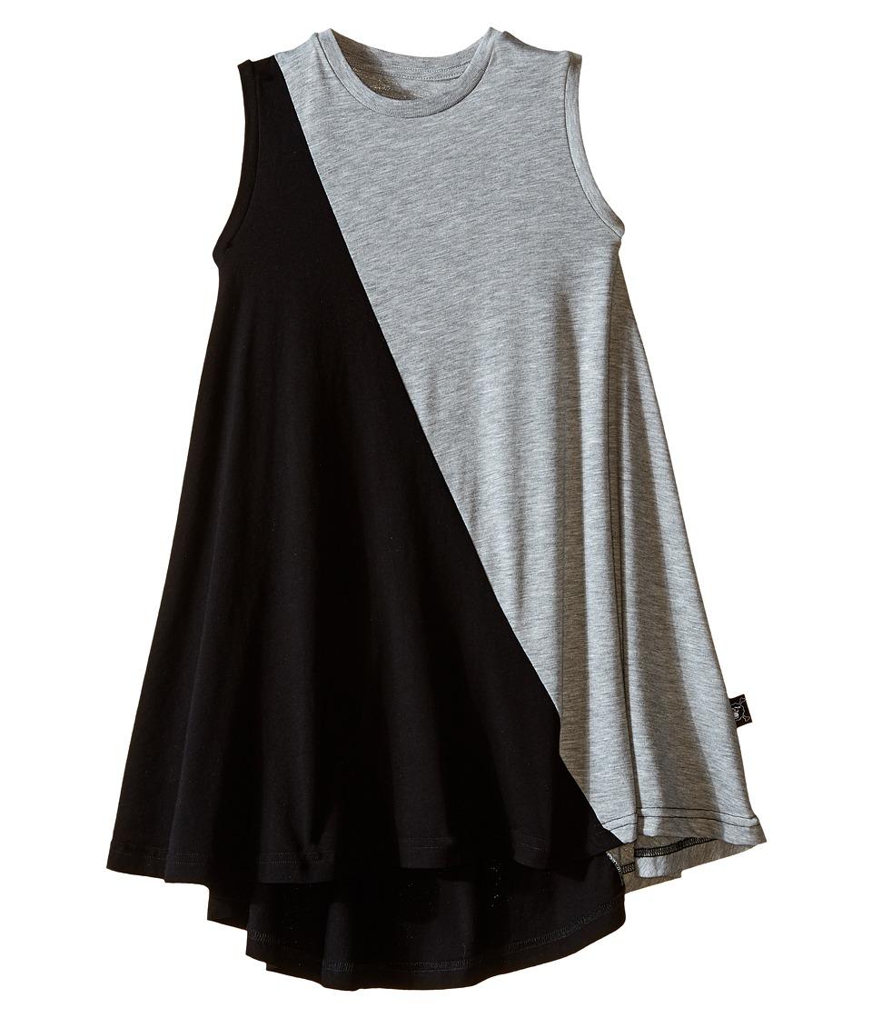 Nununu 1/2 1/2 360 Tank Dress Infant/Toddler/Little Kids Black/Heather Grey Girls Dress