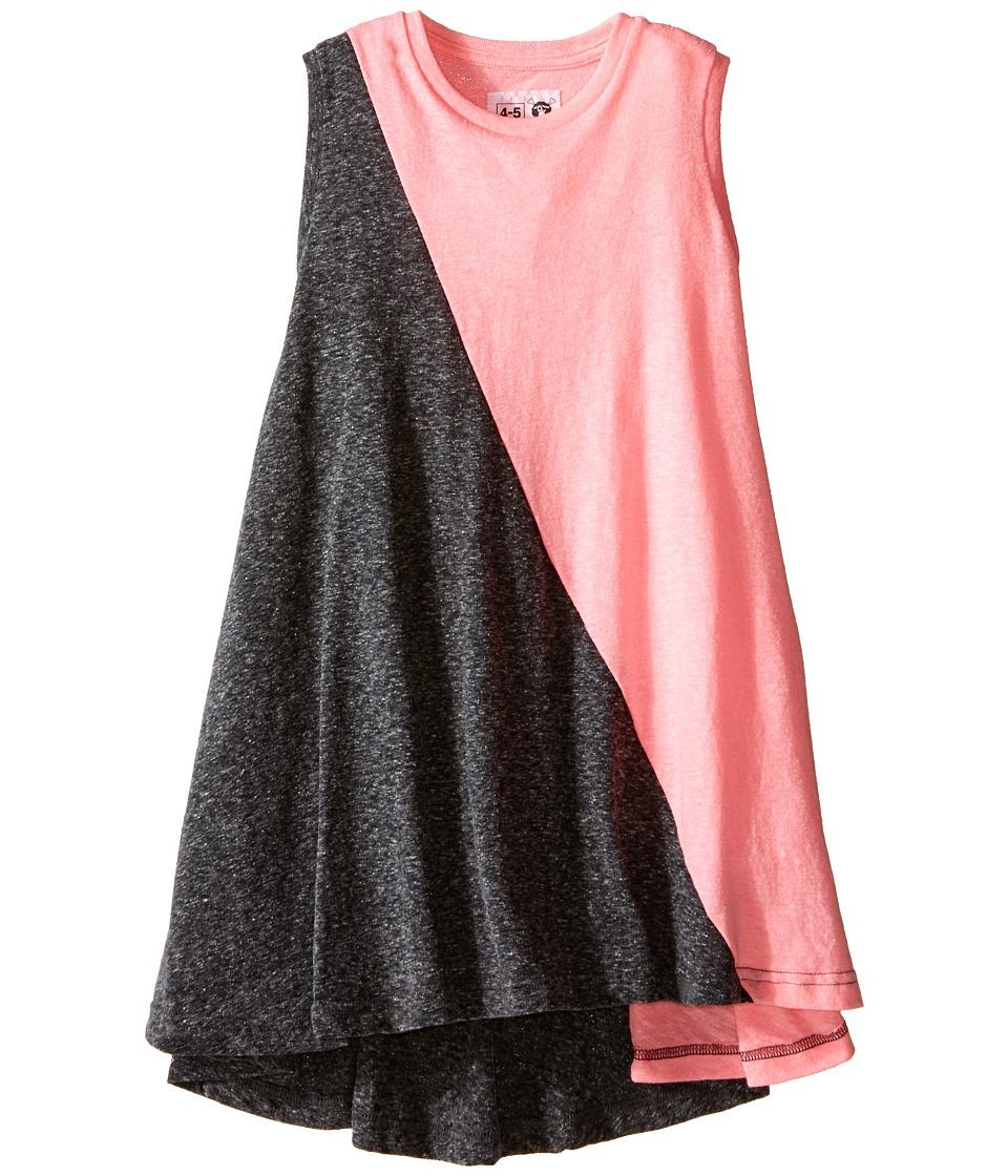 Nununu 1/2 1/2 360 Tank Dress Infant/Toddler/Little Kids Charcoal/Pink Girls Dress