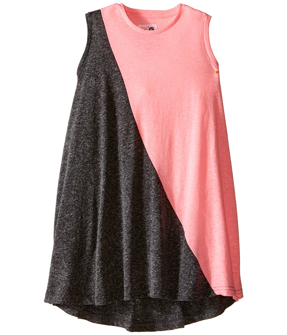 Nununu 1/2 1/2 360 Tank Dress Little Kids/Big Kids Charcoal/Pink Girls Dress