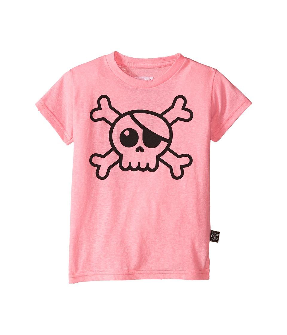 Nununu Big Skull T Shirt Infant/Toddler/Little Kids Pink Girls T Shirt