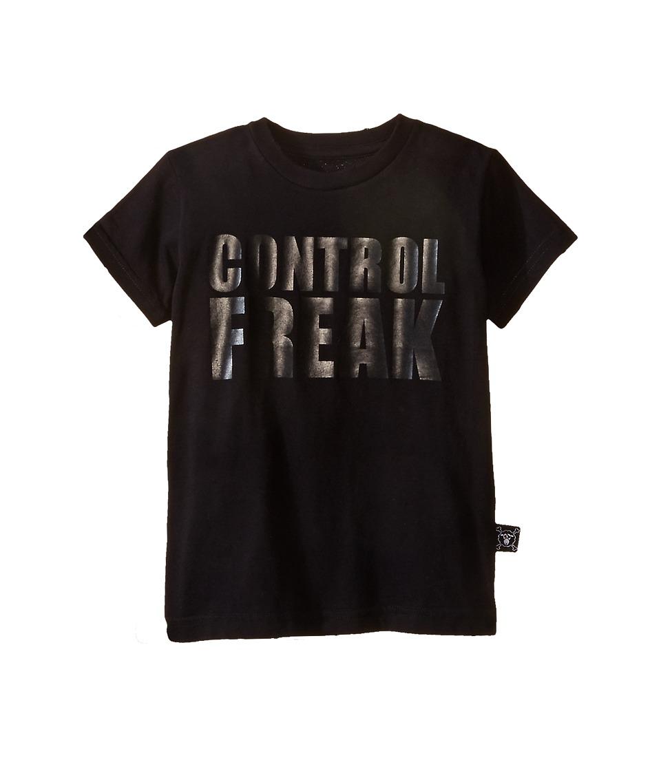 Nununu Control Freak T Shirt Infant/Toddler/Little Kids Black Kids Short Sleeve Pullover
