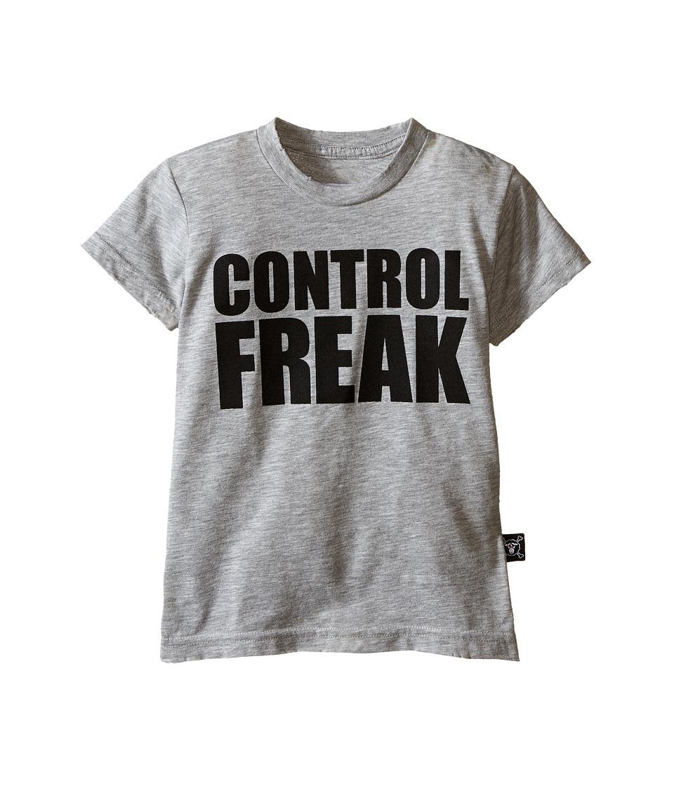 Nununu Control Freak T Shirt Infant/Toddler/Little Kids Heather Grey Kids Short Sleeve Pullover