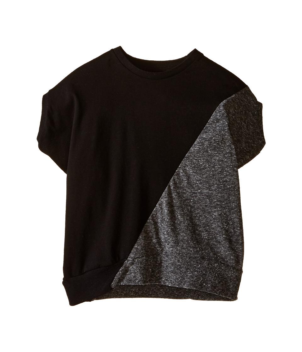 Nununu 1/2 1/2 Round Shirt Toddler/Little Kids Black/Charcoal Kids Clothing